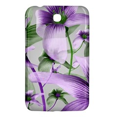 Lilies Collage Art In Green And Violet Colors Samsung Galaxy Tab 3 (7 ) P3200 Hardshell Case
