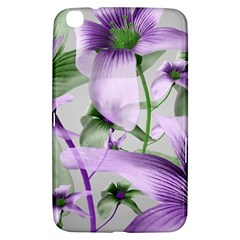 Lilies Collage Art In Green And Violet Colors Samsung Galaxy Tab 3 (8 ) T3100 Hardshell Case