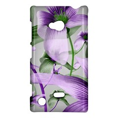 Lilies Collage Art In Green And Violet Colors Nokia Lumia 720 Hardshell Case