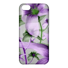Lilies Collage Art In Green And Violet Colors Apple Iphone 5c Hardshell Case
