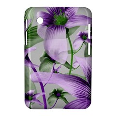 Lilies Collage Art in Green and Violet Colors Samsung Galaxy Tab 2 (7 ) P3100 Hardshell Case