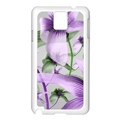 Lilies Collage Art In Green And Violet Colors Samsung Galaxy Note 3 N9005 Case (white)