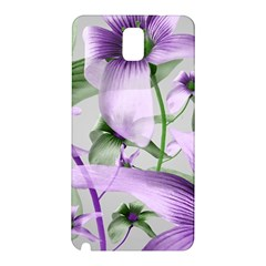 Lilies Collage Art In Green And Violet Colors Samsung Galaxy Note 3 N9005 Hardshell Back Case