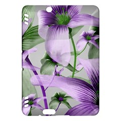 Lilies Collage Art in Green and Violet Colors Kindle Fire HDX Hardshell Case