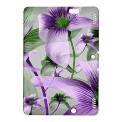 Lilies Collage Art In Green And Violet Colors Kindle Fire Hdx 8 9  Hardshell Case
