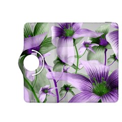 Lilies Collage Art in Green and Violet Colors Kindle Fire HDX 8.9  Flip 360 Case