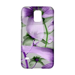 Lilies Collage Art In Green And Violet Colors Samsung Galaxy S5 Hardshell Case