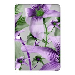 Lilies Collage Art in Green and Violet Colors Samsung Galaxy Tab Pro 10.1 Hardshell Case