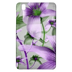 Lilies Collage Art In Green And Violet Colors Samsung Galaxy Tab Pro 8 4 Hardshell Case