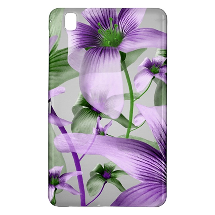 Lilies Collage Art in Green and Violet Colors Samsung Galaxy Tab Pro 8.4 Hardshell Case
