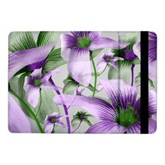 Lilies Collage Art in Green and Violet Colors Samsung Galaxy Tab Pro 10.1  Flip Case