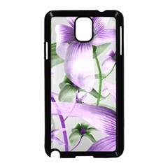 Lilies Collage Art in Green and Violet Colors Samsung Galaxy Note 3 Neo Hardshell Case (Black)