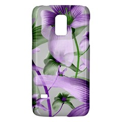 Lilies Collage Art In Green And Violet Colors Samsung Galaxy S5 Mini Hardshell Case