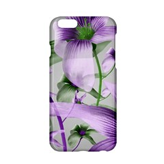 Lilies Collage Art in Green and Violet Colors Apple iPhone 6 Hardshell Case