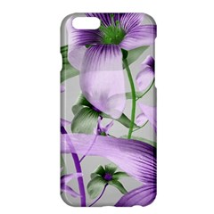 Lilies Collage Art in Green and Violet Colors Apple iPhone 6 Plus Hardshell Case