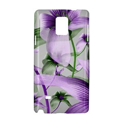 Lilies Collage Art in Green and Violet Colors Samsung Galaxy Note 4 Hardshell Case