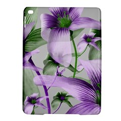 Lilies Collage Art in Green and Violet Colors Apple iPad Air 2 Hardshell Case
