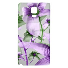 Lilies Collage Art in Green and Violet Colors Samsung Note 4 Hardshell Back Case