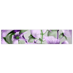 Lilies Collage Art In Green And Violet Colors Flano Scarf (small)