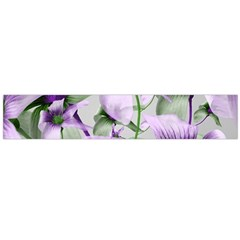 Lilies Collage Art in Green and Violet Colors Flano Scarf (Large)