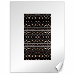 Tribal Dark Geometric Pattern03 Canvas 36  x 48  (Unframed)