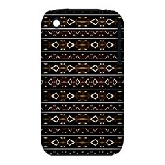 Tribal Dark Geometric Pattern03 Apple iPhone 3G/3GS Hardshell Case (PC+Silicone)