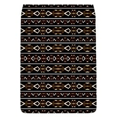 Tribal Dark Geometric Pattern03 Removable Flap Cover (Large)