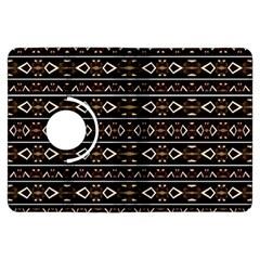 Tribal Dark Geometric Pattern03 Kindle Fire HDX Flip 360 Case