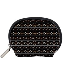 Tribal Dark Geometric Pattern03 Accessory Pouch (Small)