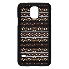 Tribal Dark Geometric Pattern03 Samsung Galaxy S5 Case (black)