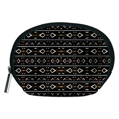 Tribal Dark Geometric Pattern03 Accessory Pouch (Medium)