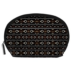 Tribal Dark Geometric Pattern03 Accessory Pouch (Large)