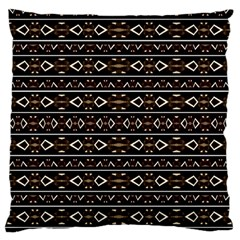 Tribal Dark Geometric Pattern03 Large Flano Cushion Case (two Sides)