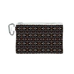 Tribal Dark Geometric Pattern03 Canvas Cosmetic Bag (Small)