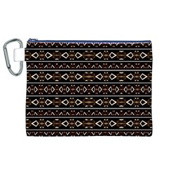 Tribal Dark Geometric Pattern03 Canvas Cosmetic Bag (XL)
