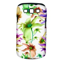 Multicolored Floral Print Pattern Samsung Galaxy S III Classic Hardshell Case (PC+Silicone)