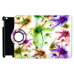 Multicolored Floral Print Pattern Apple iPad 2 Flip 360 Case