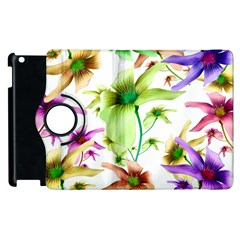 Multicolored Floral Print Pattern Apple Ipad 3/4 Flip 360 Case