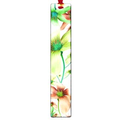 Multicolored Floral Print Pattern Large Bookmark