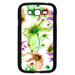 Multicolored Floral Print Pattern Samsung Galaxy Grand Duos I9082 Case (black)