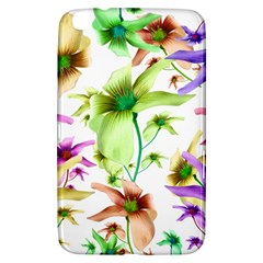 Multicolored Floral Print Pattern Samsung Galaxy Tab 3 (8 ) T3100 Hardshell Case