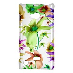 Multicolored Floral Print Pattern Nokia Lumia 720 Hardshell Case