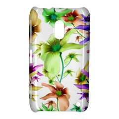 Multicolored Floral Print Pattern Nokia Lumia 620 Hardshell Case