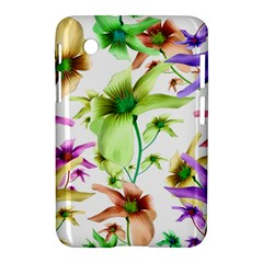 Multicolored Floral Print Pattern Samsung Galaxy Tab 2 (7 ) P3100 Hardshell Case