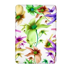 Multicolored Floral Print Pattern Samsung Galaxy Tab 2 (10.1 ) P5100 Hardshell Case
