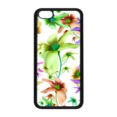 Multicolored Floral Print Pattern Apple Iphone 5c Seamless Case (black)