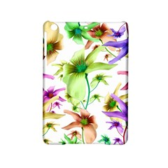Multicolored Floral Print Pattern Apple iPad Mini 2 Hardshell Case