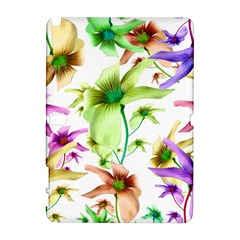 Multicolored Floral Print Pattern Samsung Galaxy Note 10.1 (P600) Hardshell Case