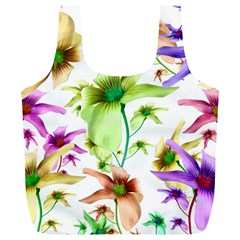 Multicolored Floral Print Pattern Reusable Bag (xl)
