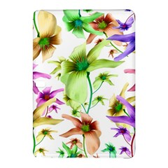 Multicolored Floral Print Pattern Samsung Galaxy Tab Pro 10.1 Hardshell Case